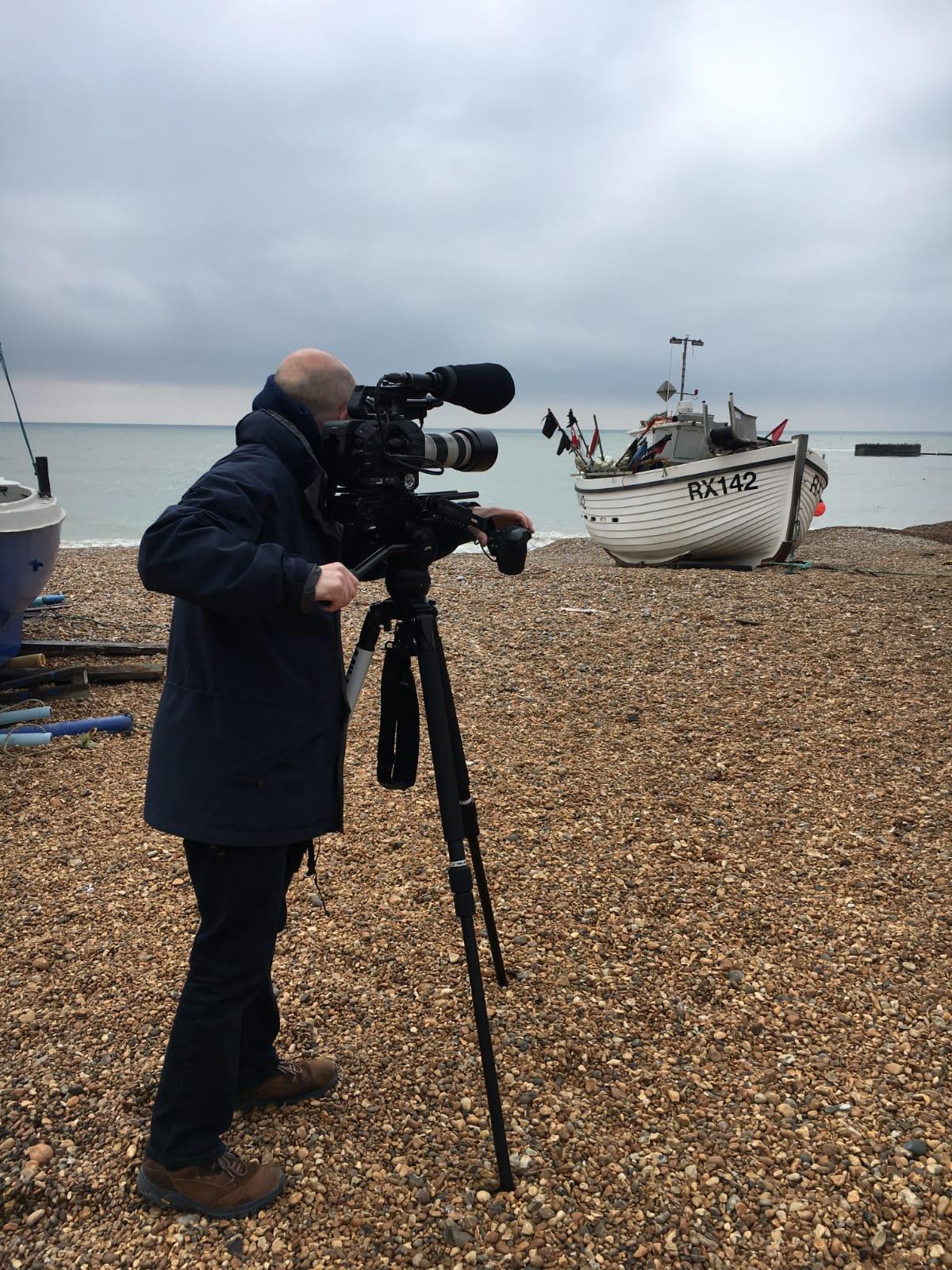 © Ellie Wilson - David filming Music Video in Rye 1
