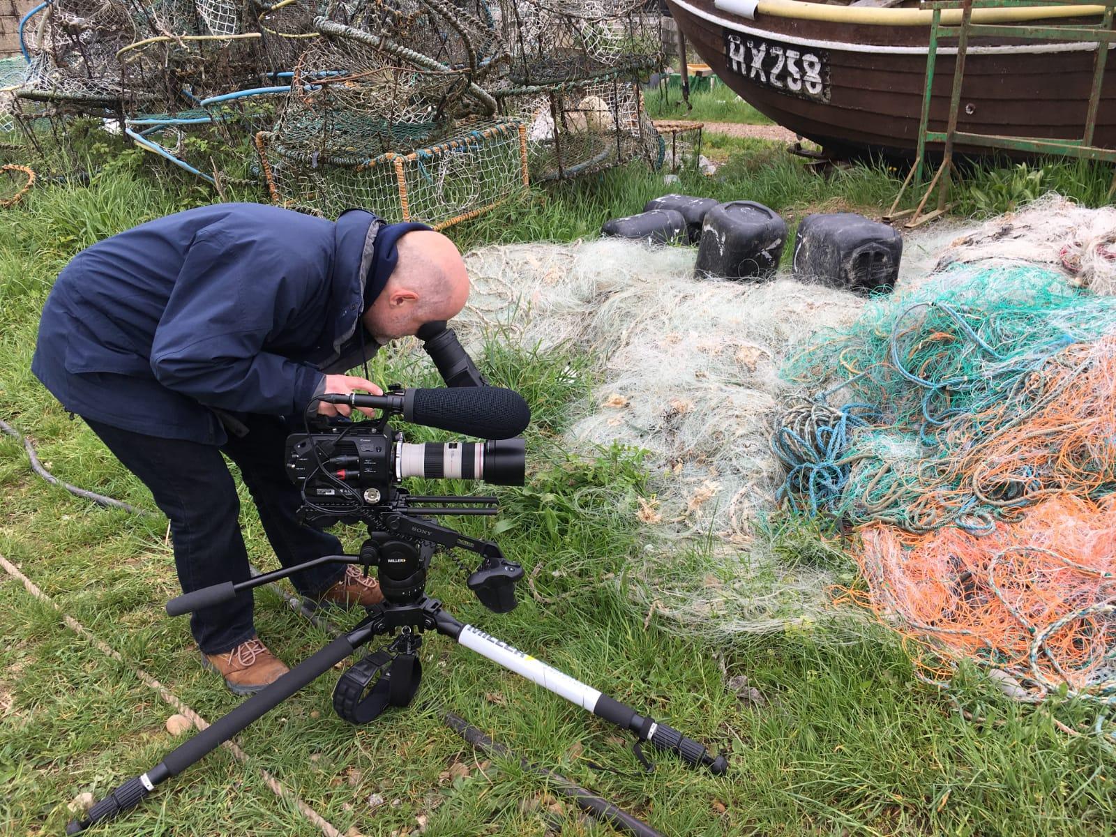 © Ellie Wilson - David filming Music Video in Rye 2
